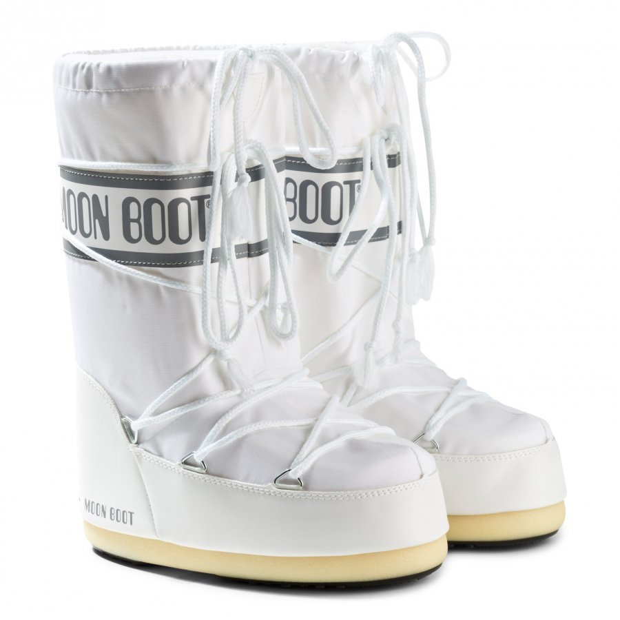Moon Boot White Nylon Moon Boots Talvisaappaat