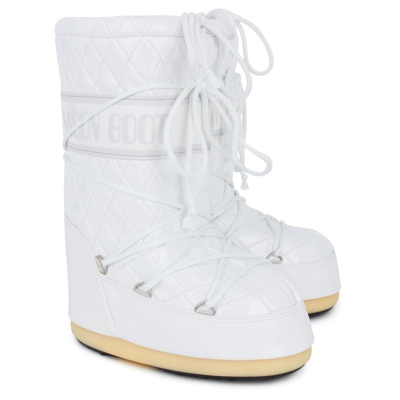 Moon Boot White Quilted Queen Moon Boots Talvisaappaat