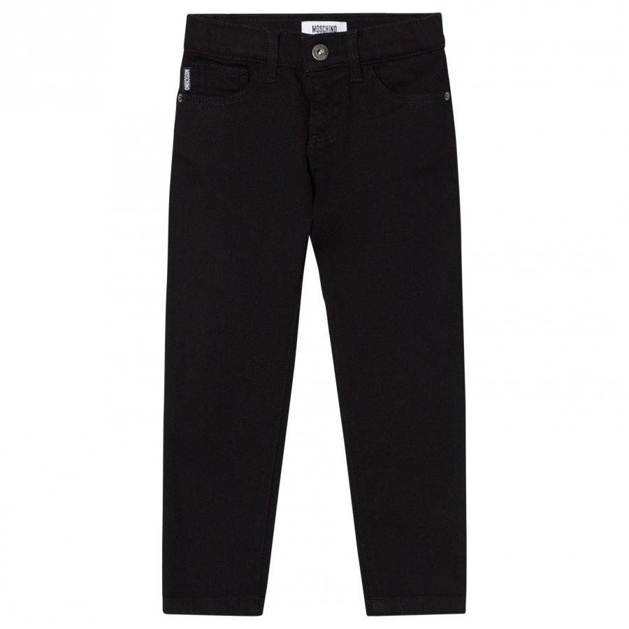 Moschino Kid-Teen Black Moschino Branded Slim Jeans Farkut