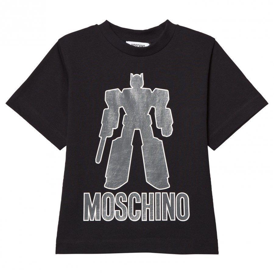 Moschino Kid-Teen Black Transformers Tee T-Paita