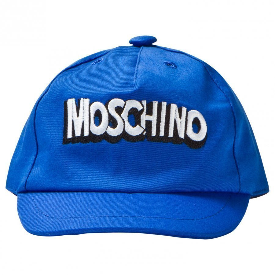 Moschino Kid-Teen Blue Branded Baseball Cap Lippis
