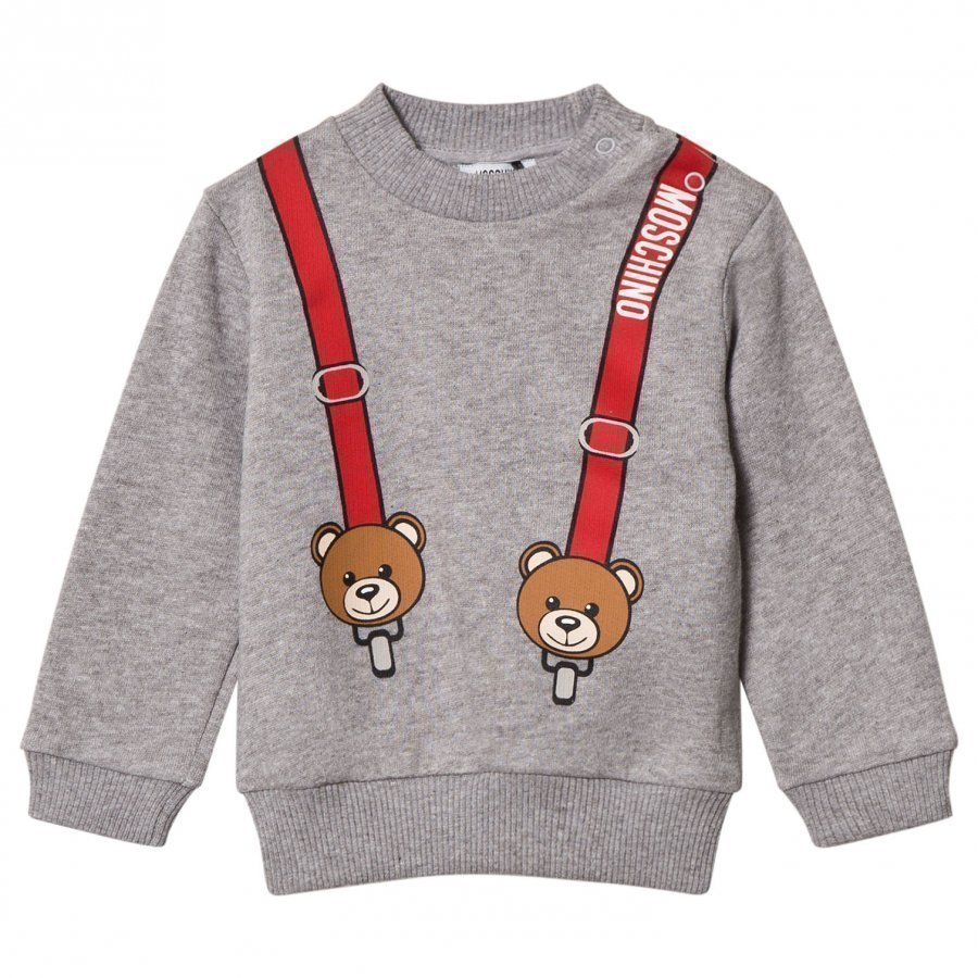 Moschino Kid-Teen Grey Bear And Braces Sweatshirt Oloasun Paita