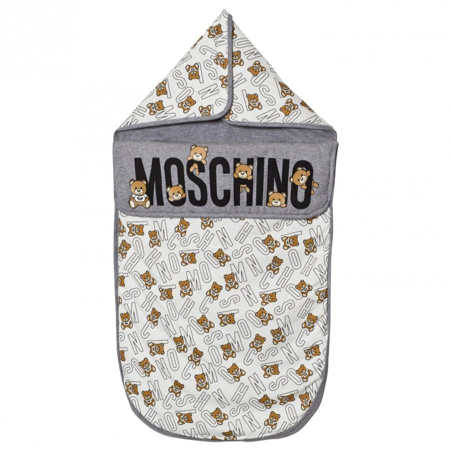 Moschino Kid-Teen Grey Bear Print Nest Vauvan Makuupussi