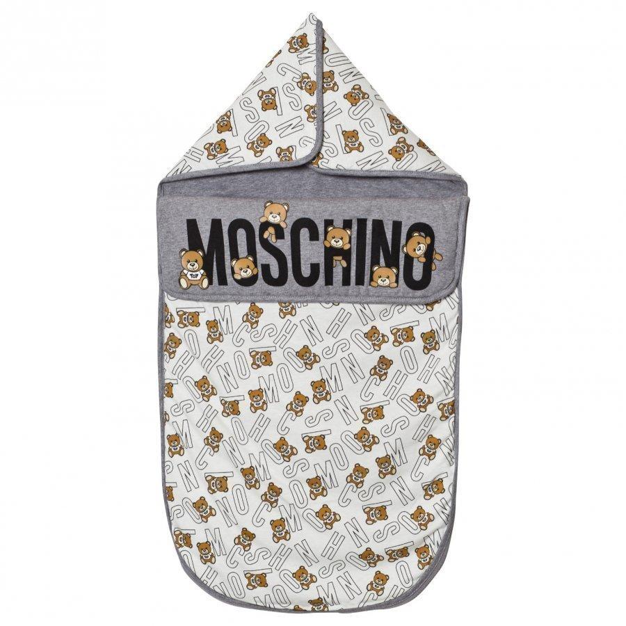 Moschino Kid-Teen Grey Bear Print Nest Vauvan Makuupussi