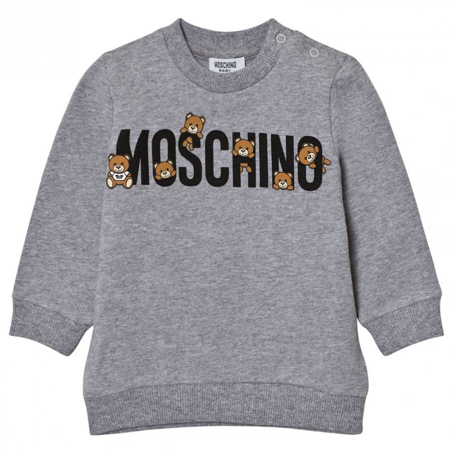 Moschino Kid-Teen Grey Multi Bear Branded Sweatshirt Oloasun Paita