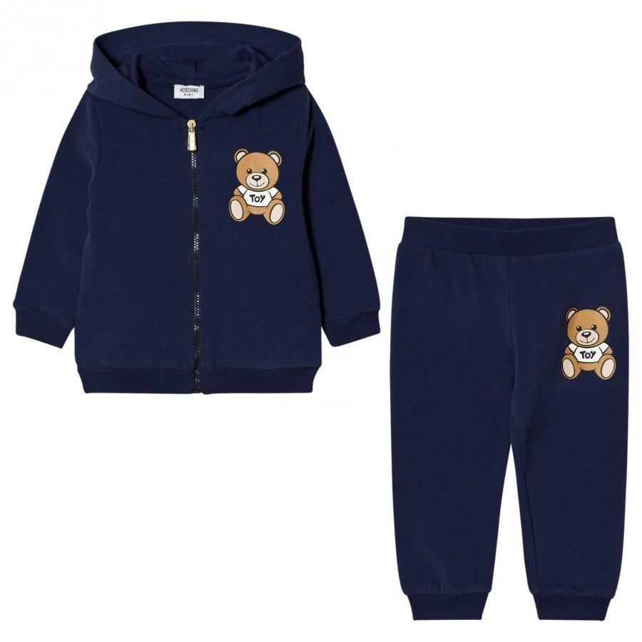 Moschino Kid-Teen Navy Bear Logo Tracksuit Verryttelyasu