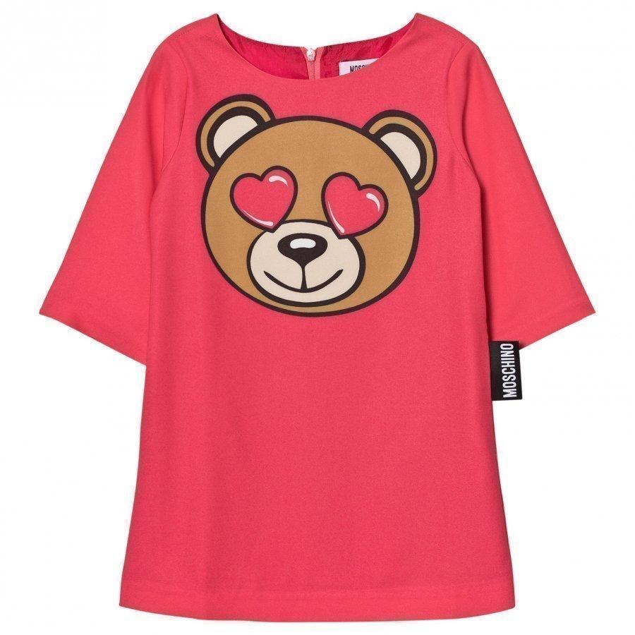 Moschino Kid-Teen Pink Bear Heart Dress Mekko
