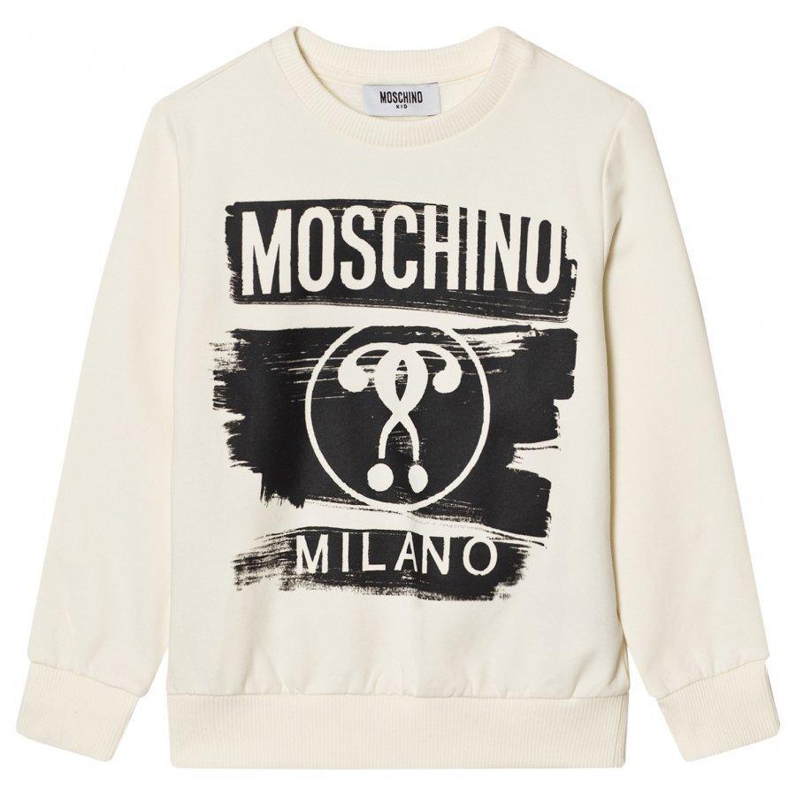 Moschino Kid-Teen White Milano Moschino Sweatshirt Oloasun Paita