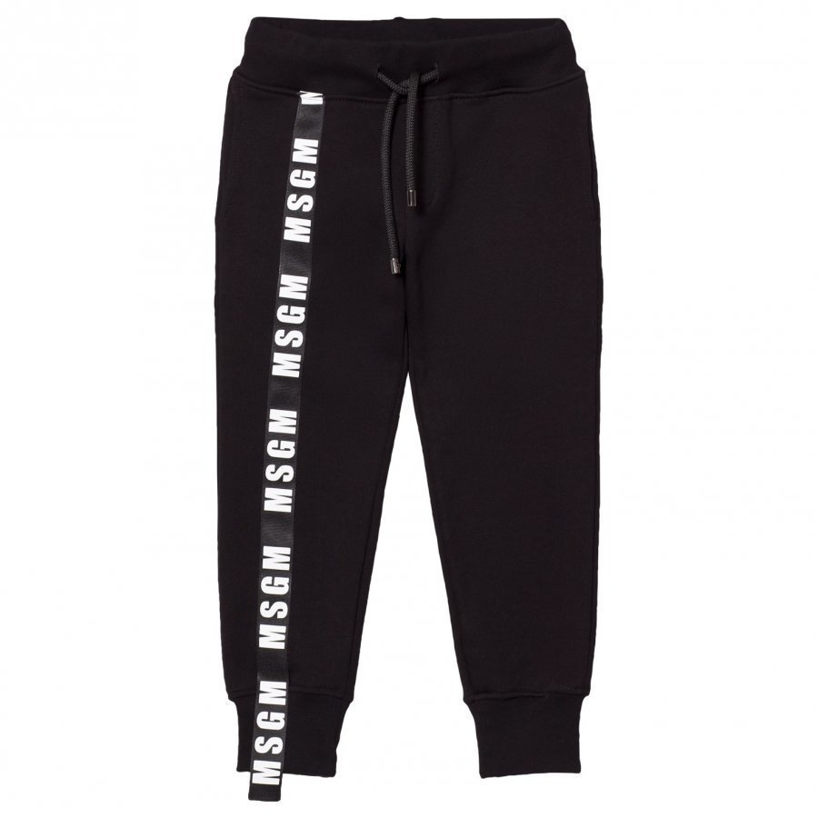 Msgm Black Logo Detail Sweatpants Verryttelyhousut