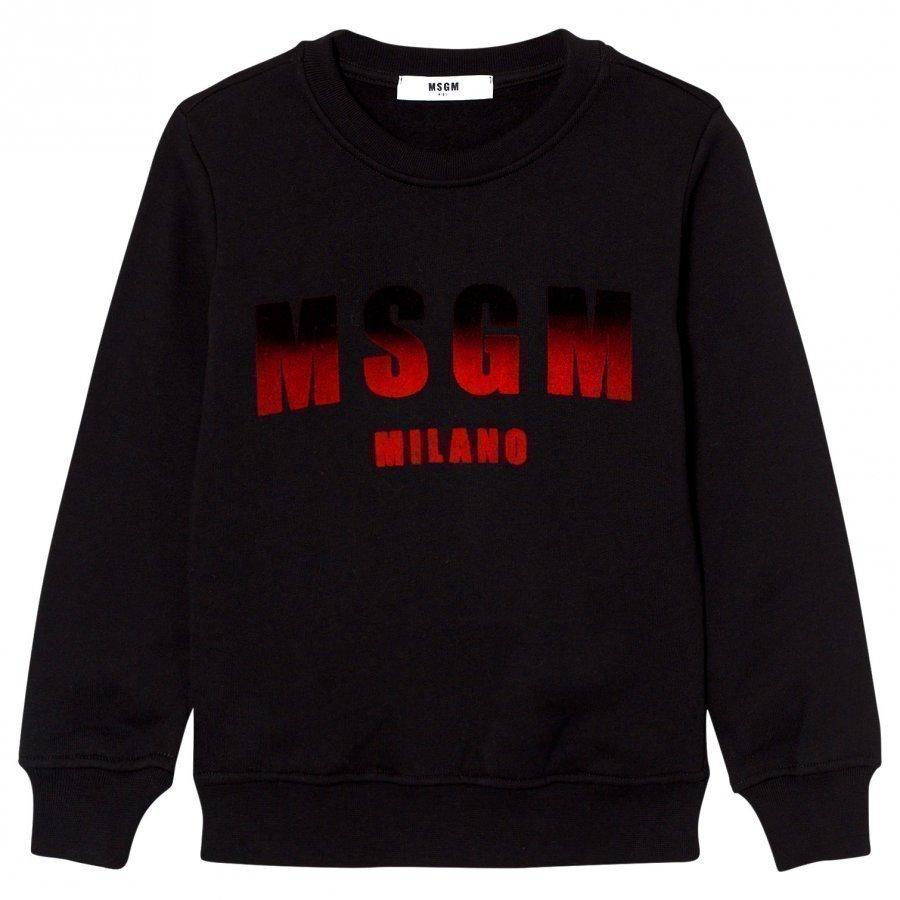 Msgm Black Logo Sweatshirt Oloasun Paita