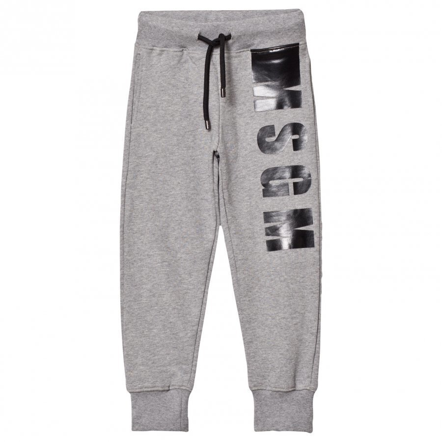 Msgm Grey Branded Sweat Pants Verryttelyhousut