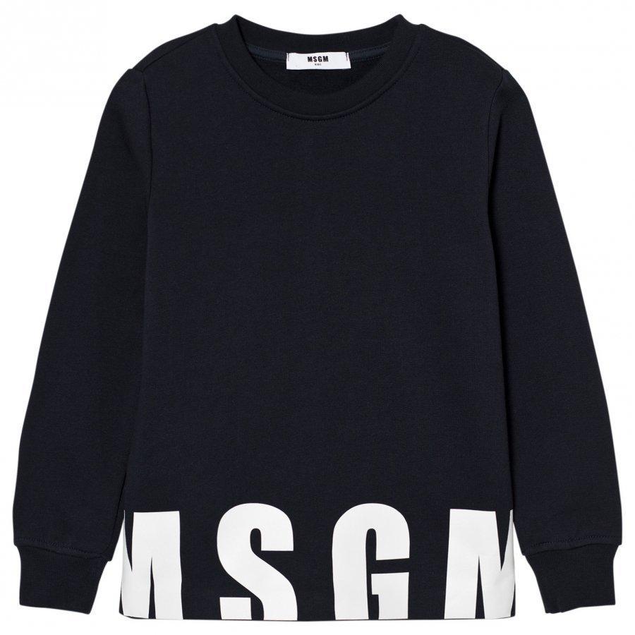 Msgm Navy Logo Sweatshirt Oloasun Paita