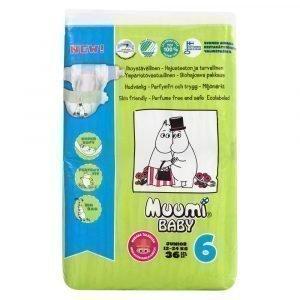 Muumi Baby Junior 6 12-24 Kg Teippivaippa 36 Kpl