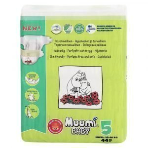 Muumi Baby Maxi+ 5 10-16kg Teippivaippa 44 Kpl