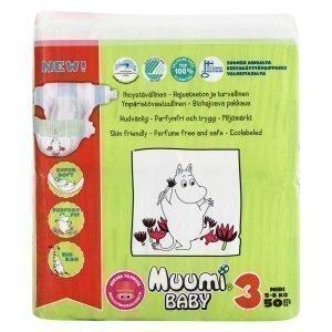 Muumi Baby Midi 3 5-8 Kg Teippivaippa 50 Kpl