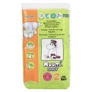 Muumi Baby Mini 2 3-6 Kg Teippivaippa 58 Kpl