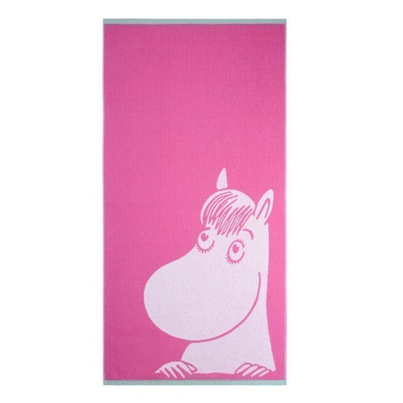 Muumi Kylpypyyhe Niiskuneiti 70 x 140 cm Vaaleanpunainen/minttu
