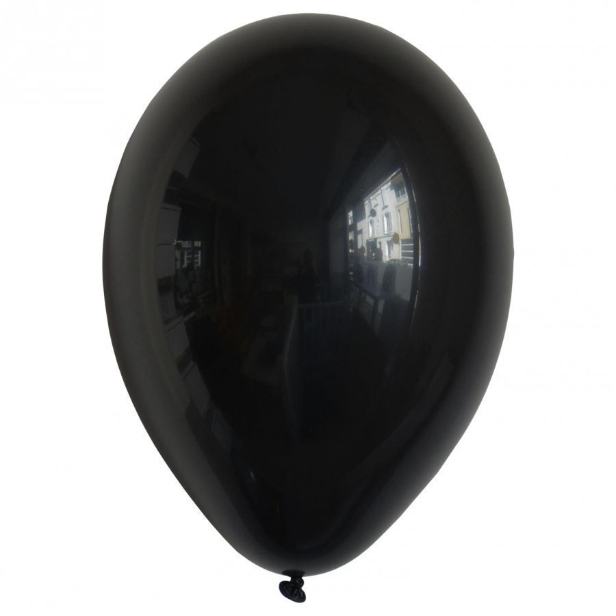 My Little Day 10 Balloons Black Juhlatarvike