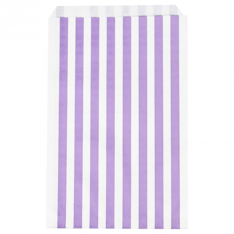 My Little Day 10 Paper Bags Lilac Stripes Juhlatarvike