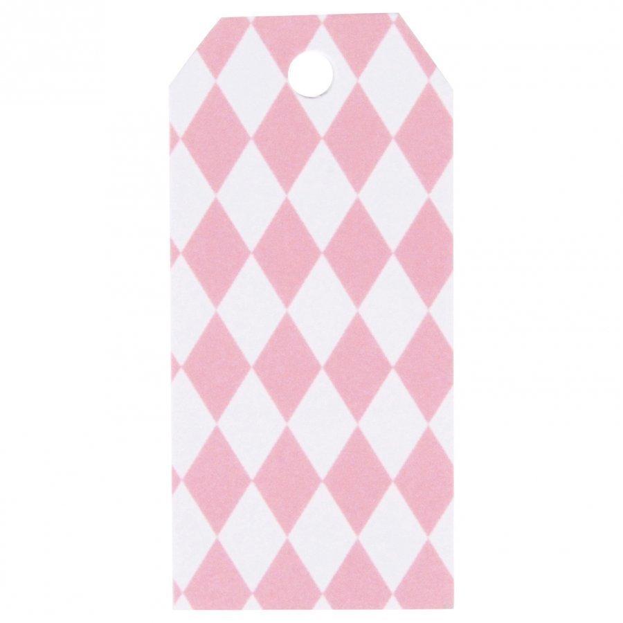 My Little Day 12 Gift Tags Light Pink Diamonds Juhlatarvike