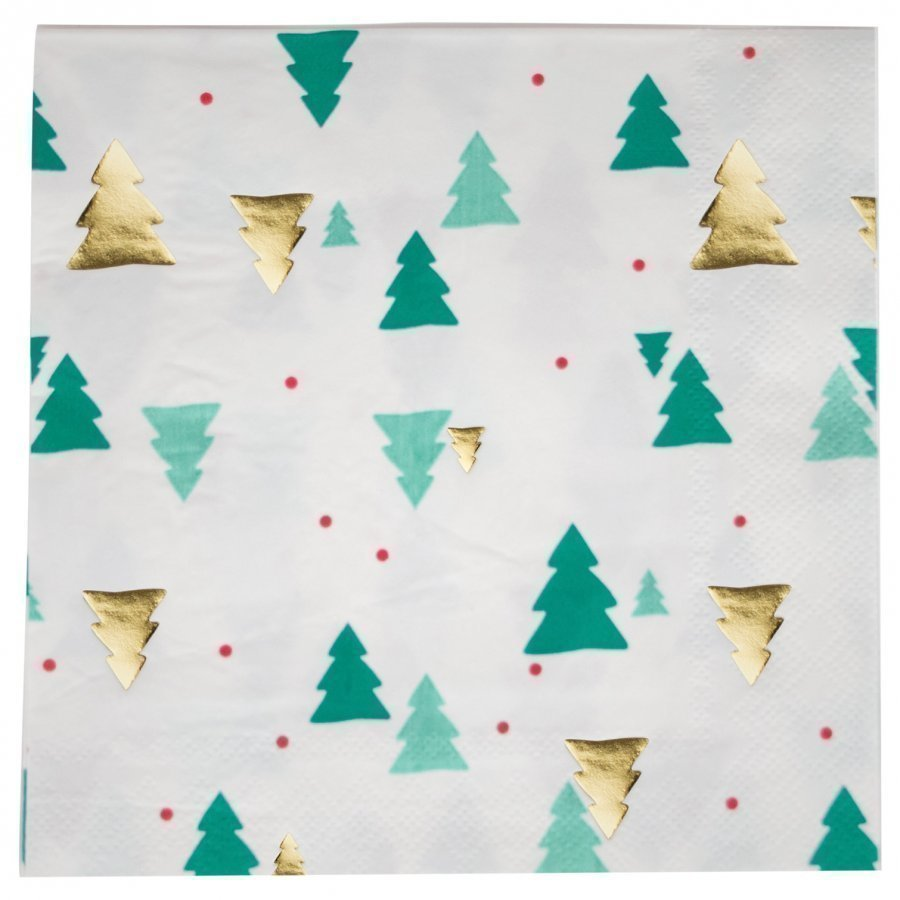 My Little Day 16 Paper Napkins Christmas Trees Juhlatarvike