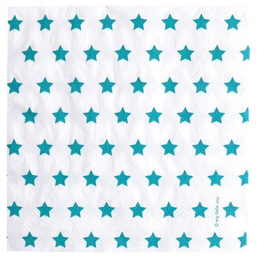 My Little Day 20 Paper Napkins Blue Stars Juhlatarvike