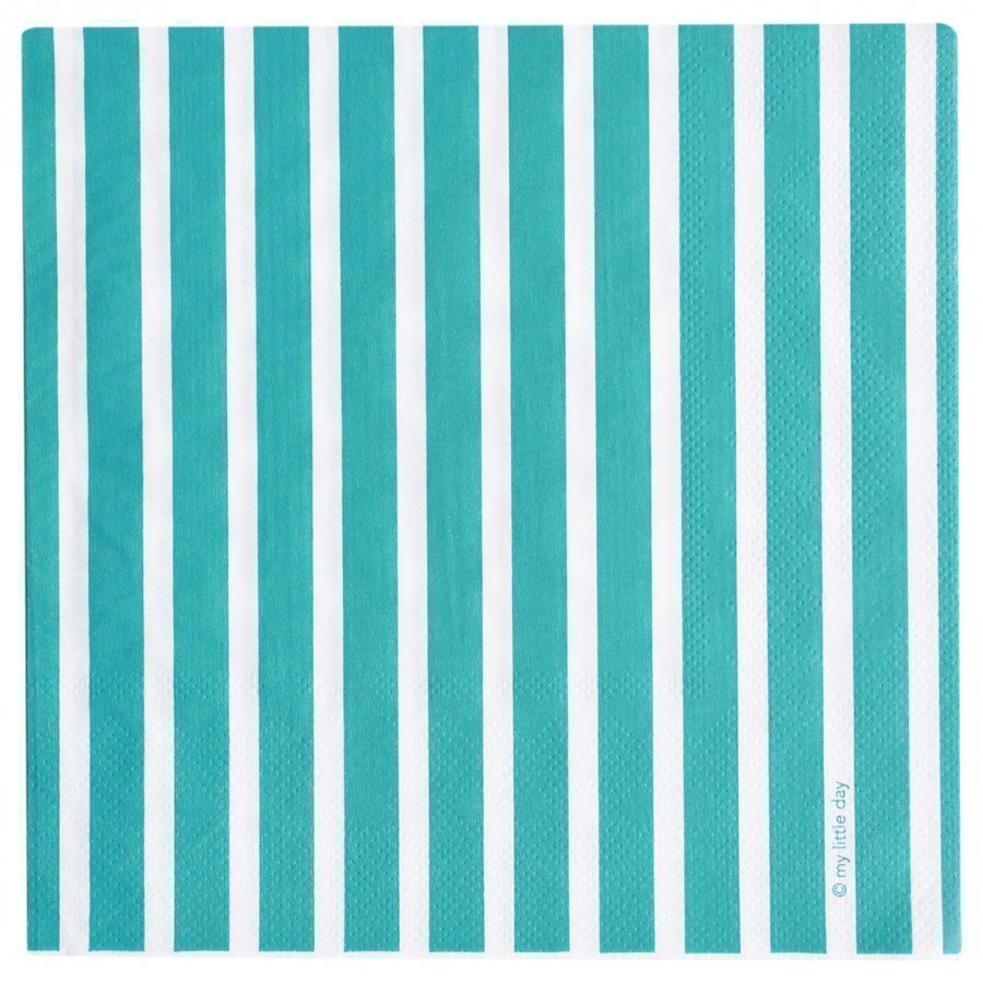 My Little Day 20 Paper Napkins Blue Stripes Juhlatarvike