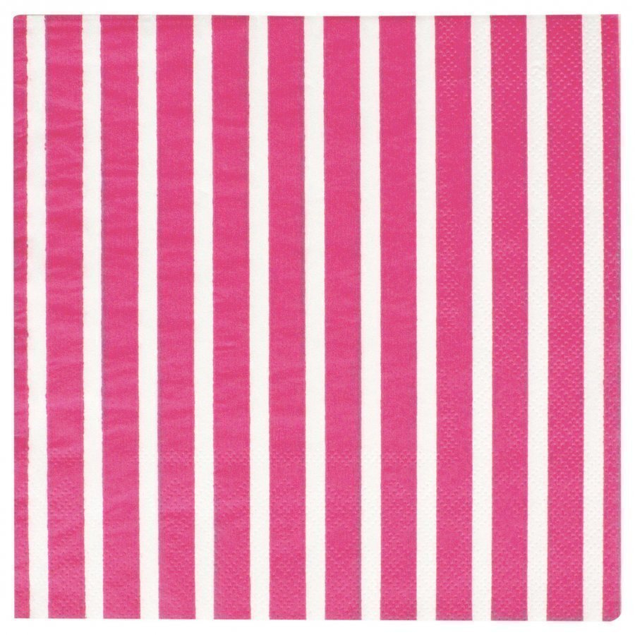 My Little Day 20 Paper Napkins Bright Pink Stripes Juhlatarvike