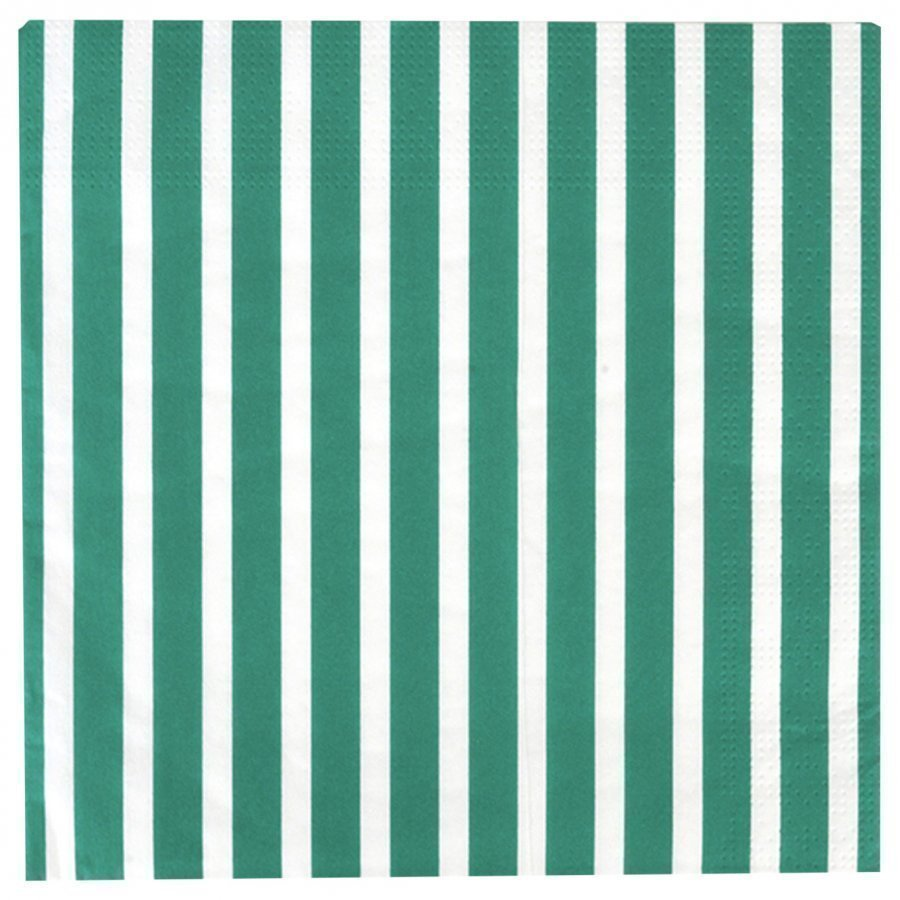 My Little Day 20 Paper Napkins Dark Green Stripes Juhlatarvike