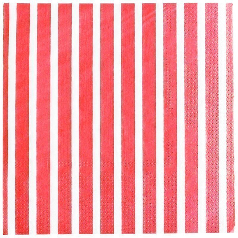 My Little Day 20 Paper Napkins Red Stripes Juhlatarvike