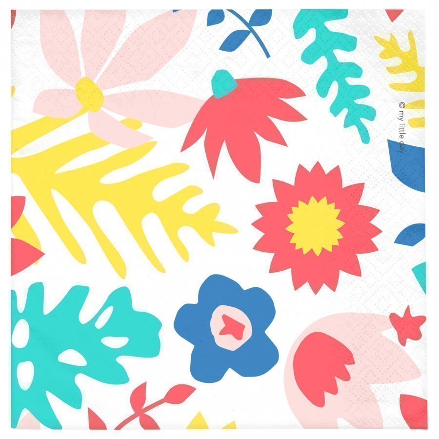 My Little Day 20 Paper Napkins Tropical Flowers Juhlatarvike