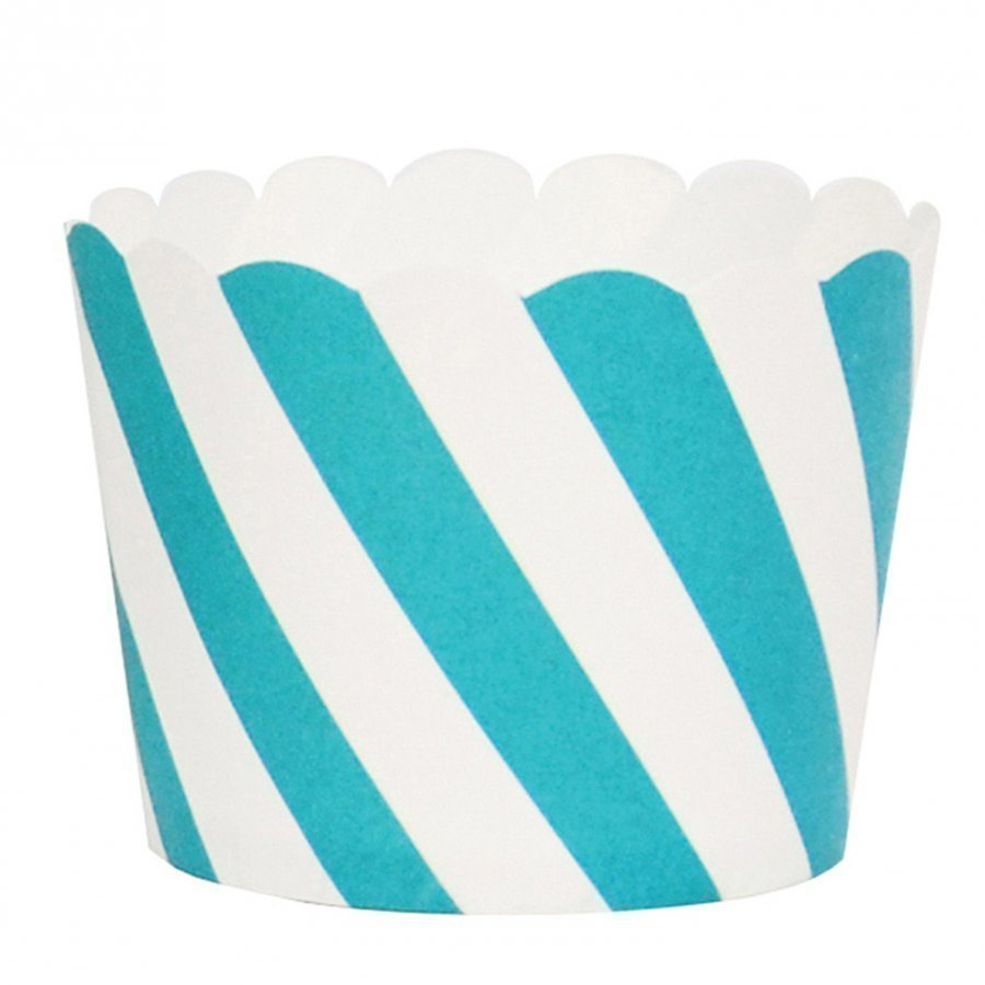 My Little Day 25 Baking Cups Blue Diagonals Juhlatarvike