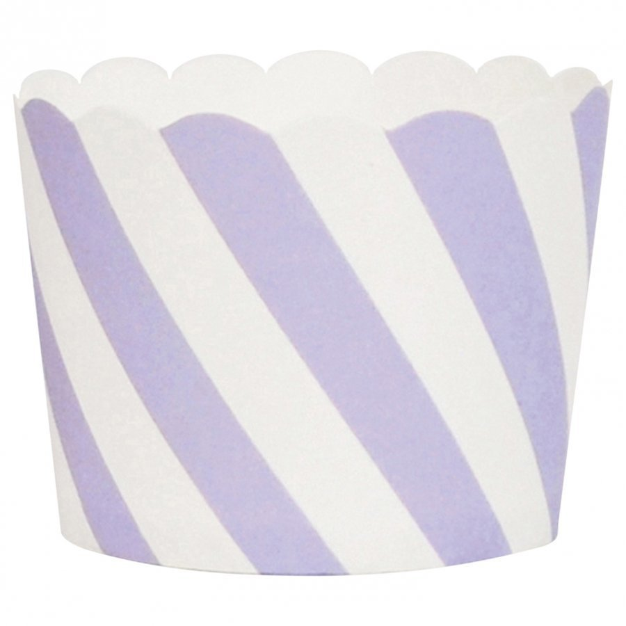 My Little Day 25 Baking Cups Lilac Diagonals Juhlatarvike