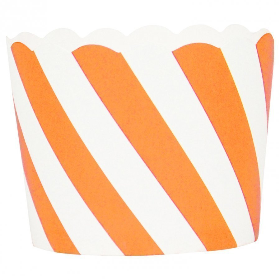 My Little Day 25 Baking Cups Orange Diagonals Juhlatarvike