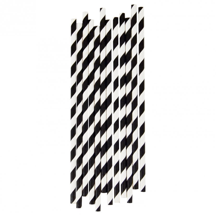 My Little Day 25 Paper Straws Black Stripes Juhlatarvike