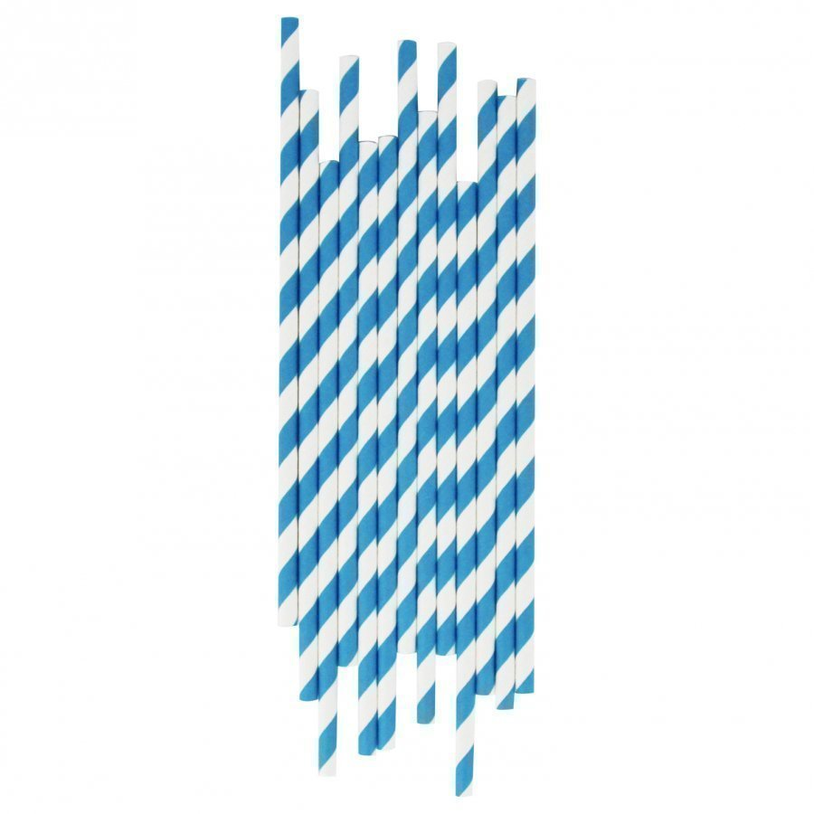 My Little Day 25 Paper Straws Blue Stripes Juhlatarvike