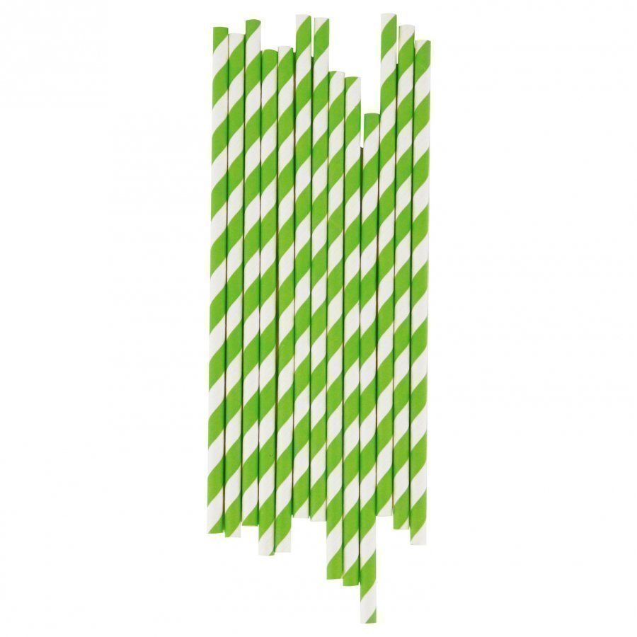 My Little Day 25 Paper Straws Green Stripes Juhlatarvike
