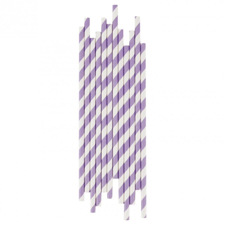 My Little Day 25 Paper Straws Lilac Stripes Juhlatarvike