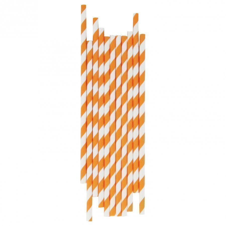 My Little Day 25 Paper Straws Orange Stripes Juhlatarvike