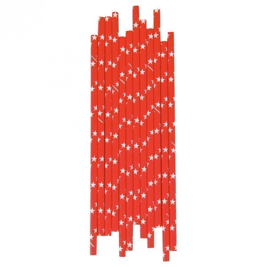 My Little Day 25 Paper Straws Red /White Stars Juhlatarvike