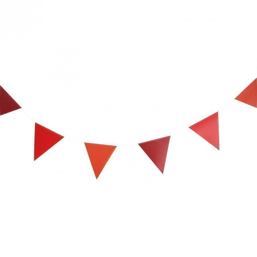 My Little Day 3m Paper Bunting Red Juhlatarvike