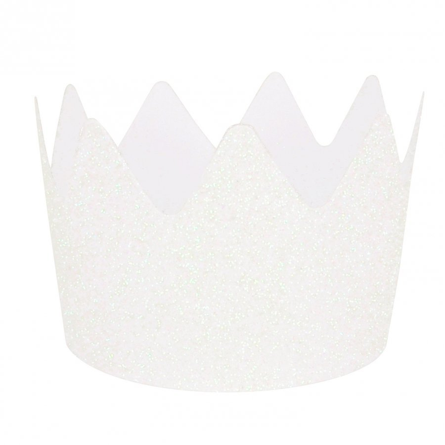My Little Day 8 Glitter Crowns White Juhlatarvike