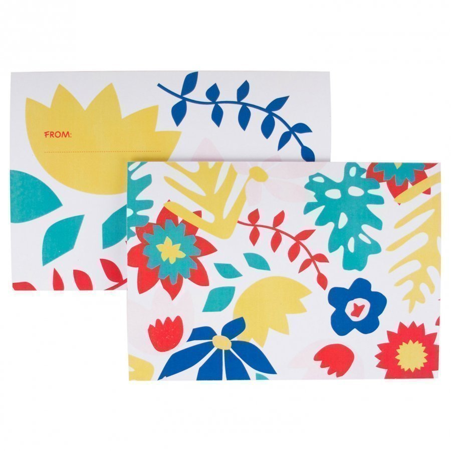 My Little Day 8 Invitations Tropical Flowers Juhlatarvike