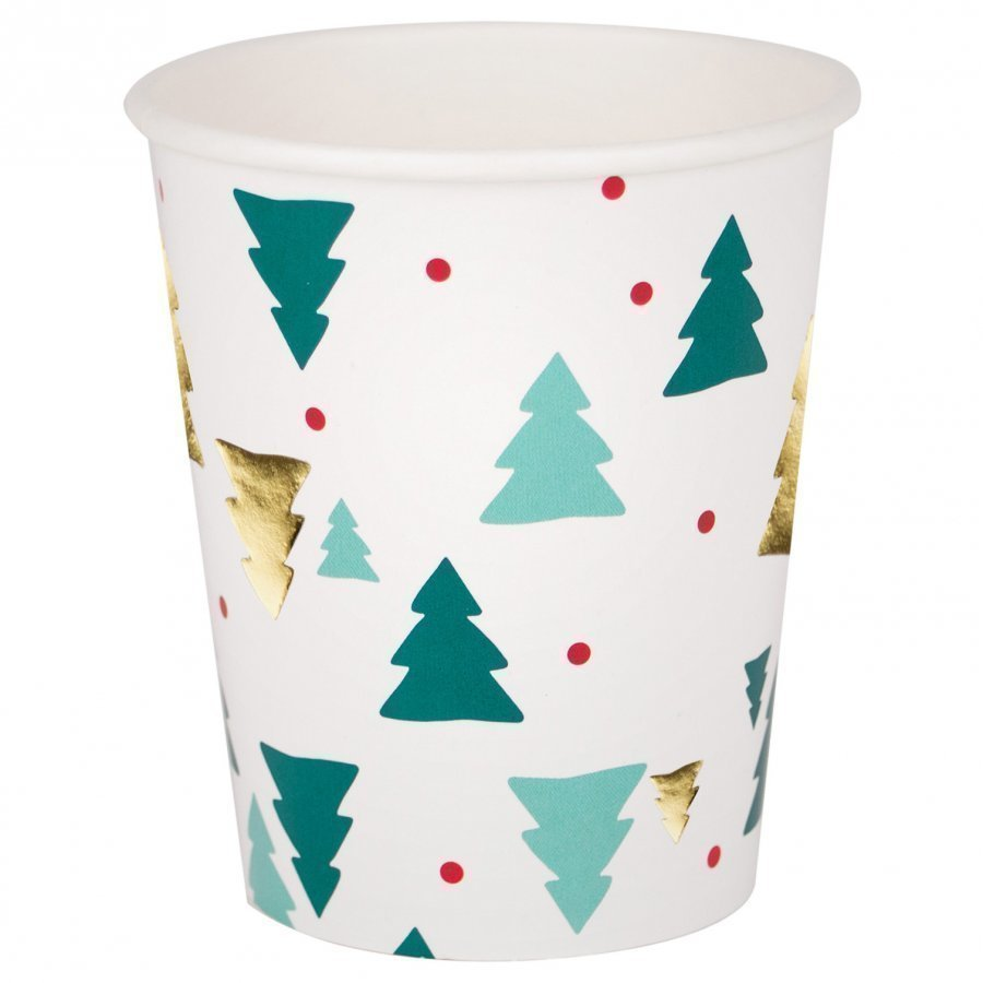 My Little Day 8 Paper Cups Christmas Trees Juhlatarvike