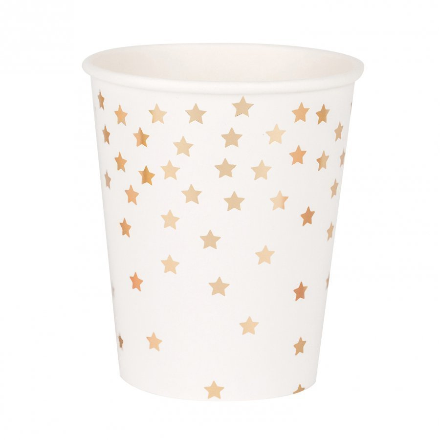 My Little Day 8 Paper Cups Falling Gold Stars Juhlatarvike