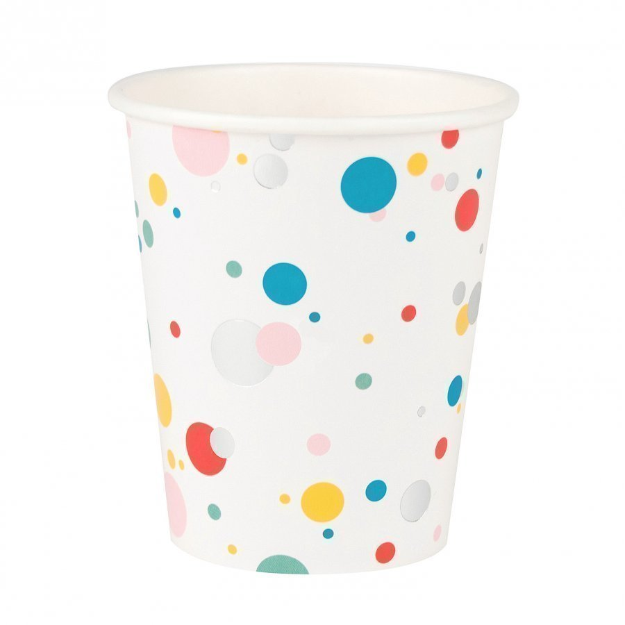 My Little Day 8 Paper Cups Multicolored Bubbles Juhlatarvike