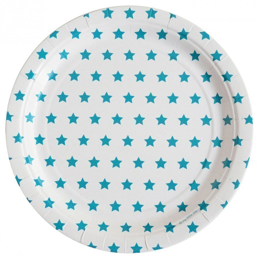 My Little Day 8 Paper Plates Blue Stars Juhlatarvike