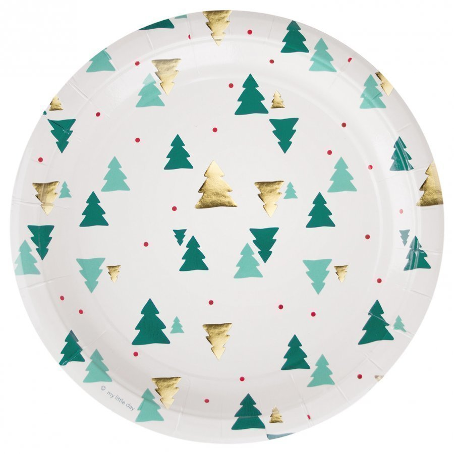 My Little Day 8 Paper Plates Christmas Trees Juhlatarvike