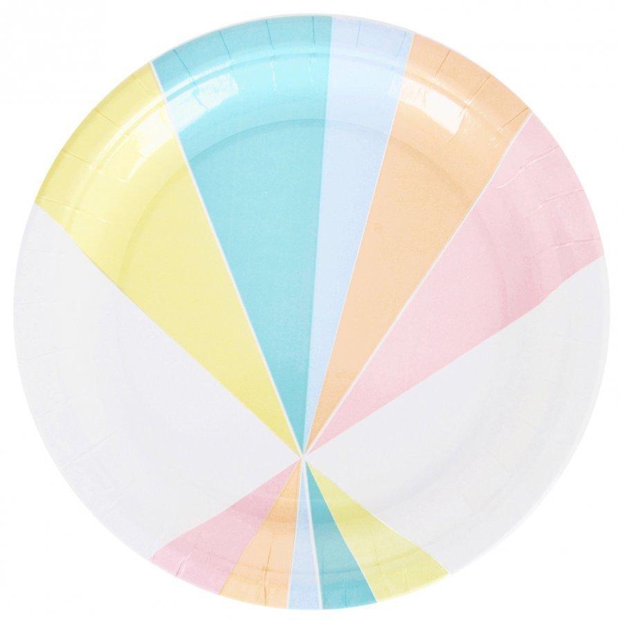 My Little Day 8 Paper Plates Pastel Juhlatarvike