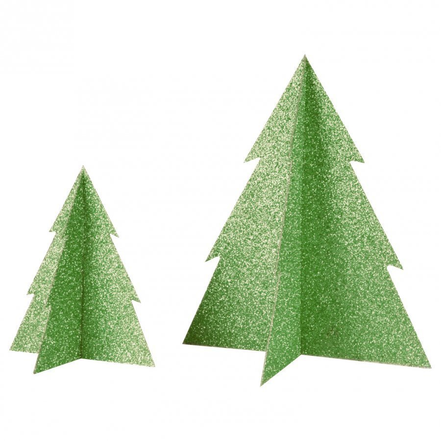 My Little Day Glitter Christmas Tree Green Large Juhlatarvike
